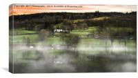 Mist Over Coniston Water, Canvas Print