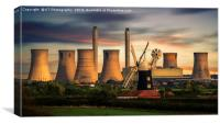 Evening at North Leverton Windmill, Canvas Print