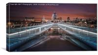 Over the Millennium Bridge to St Pauls Cathedral, Canvas Print