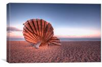 Scallop Sculpture, Canvas Print