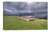 Hadrians Wall at Housesteads, Canvas Print