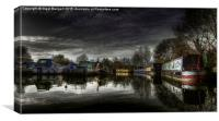 River Stort, Canvas Print