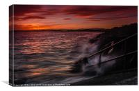 Monifieth Sunset, Canvas Print