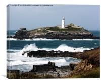 Godrevy Island & Lighthouse, Canvas Print