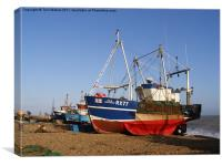 Fishing Boats on Hastings Stade, Canvas Print