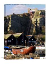 Hastings East Hill Funicular Railway, Canvas Print