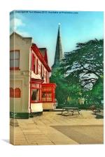The Red Lion and Bitterne Church, Canvas Print