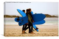 Sennen Surf Dudes, Canvas Print