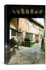 Stratford Upon Avon Back Alley, Canvas Print