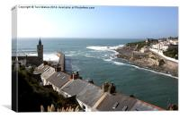 Rooftops of Porthleven, Canvas Print
