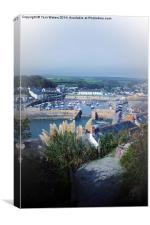 Porthleven Harbour Cornwall, Canvas Print
