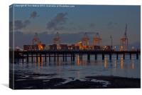 Southampton Container Port at Night, Canvas Print