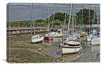 Hill Head Harbour Hampshire HDR, Canvas Print
