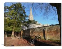 Salisbury Cathedral Wall, Canvas Print