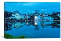 The Lights Come On In Mylor Bridge, Canvas Print