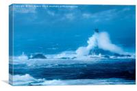 Stormy Weather at Longships, Canvas Print