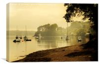Misty Morning at Restronguet Weir, Canvas Print