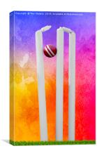 Colourful Cricket Stumps, Canvas Print