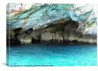 Glorious blue water from Kayak trip, Canvas Print