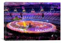 London Olympics Opening Ceremony Rehearsal, Canvas Print