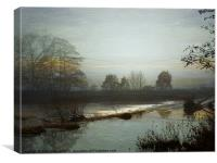 Misty Dawn., Canvas Print