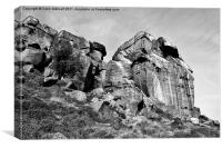 The Cow and Calf Rocks, Canvas Print