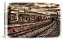 Vintage Keighley Station, Canvas Print