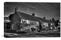 Gillamoor Cottages in mono, Canvas Print