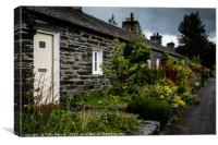 Pitlochry Cottages, Canvas Print