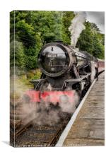 Austerity Class Steam Engine, Canvas Print