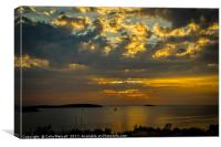 Sunset over the Adriatic, Canvas Print