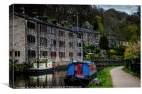 Canal side residences, Canvas Print