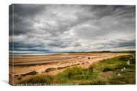 Alnmouth Beach., Canvas Print