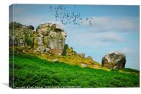 The Cow and Calf, Canvas Print