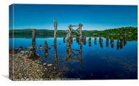 The Old Jetty, Loch Awe., Canvas Print