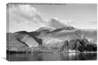 Skiddaw And Friars Crag, Cumbria, Canvas Print