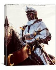 Knight In Shining Armour , Canvas Print