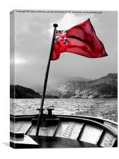 Red Ensign Isolated., Canvas Print