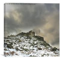 Ominous Clouds Over Beacon Hill, Leicestershire., Canvas Print