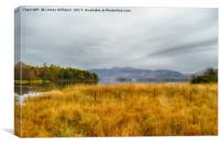 Derwent Valley and Skiddaw Autumn, Canvas Print