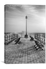 Swanage Jetty in Mono, Canvas Print