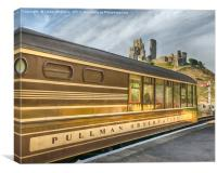 Pullman Car and Castle, Canvas Print