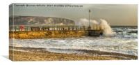 Swanage Jetty Dorset, Canvas Print
