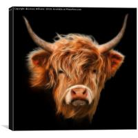 Highland Cow., Canvas Print