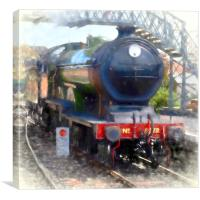 LNER B12 – 8572 Steam Train, Canvas Print