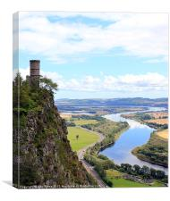 Kinnoull Tower Overlooking River Tay, Canvas Print