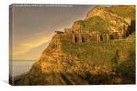 Dawn on Tintagel Castle, Canvas Print