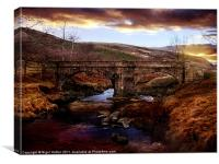 Packhorse Bridge, Canvas Print