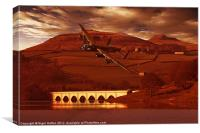 Into Ladybower, Canvas Print