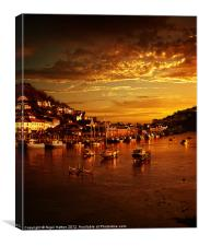 Looe at Sunset, Canvas Print